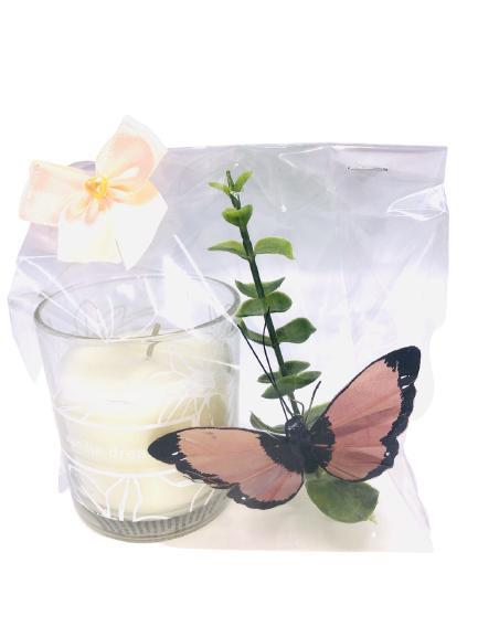 Presentpåse - duni doftljus, fjäril