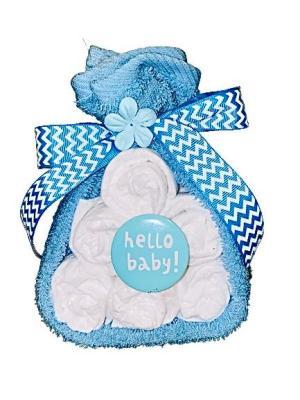 Storksäck / liten blöjtårta till Babyshower
