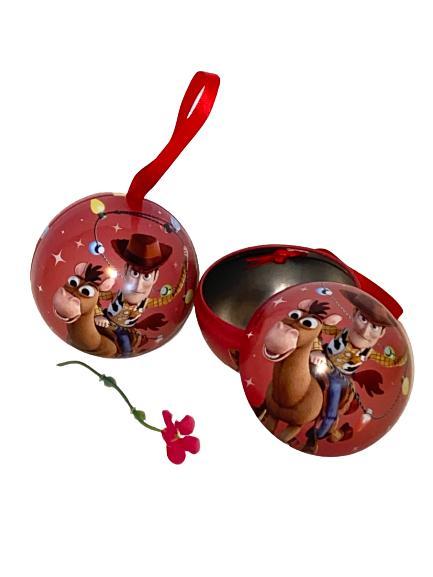 2 st Toy Story julgranskulor med sidenband