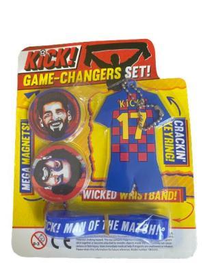 KICK! Game-Changer set (nyckelring, armband, magneter)Barcelona