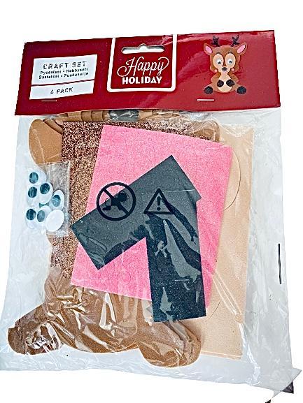 Pysselset 4-pack foamstickers ren