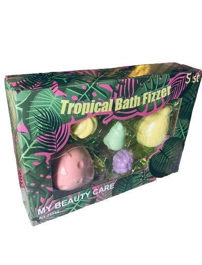Tropical bath fizzer 5 pack