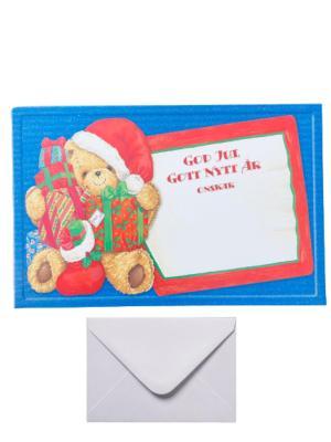 """9 st julkort med kuvert """"nalle"""" God jul"""
