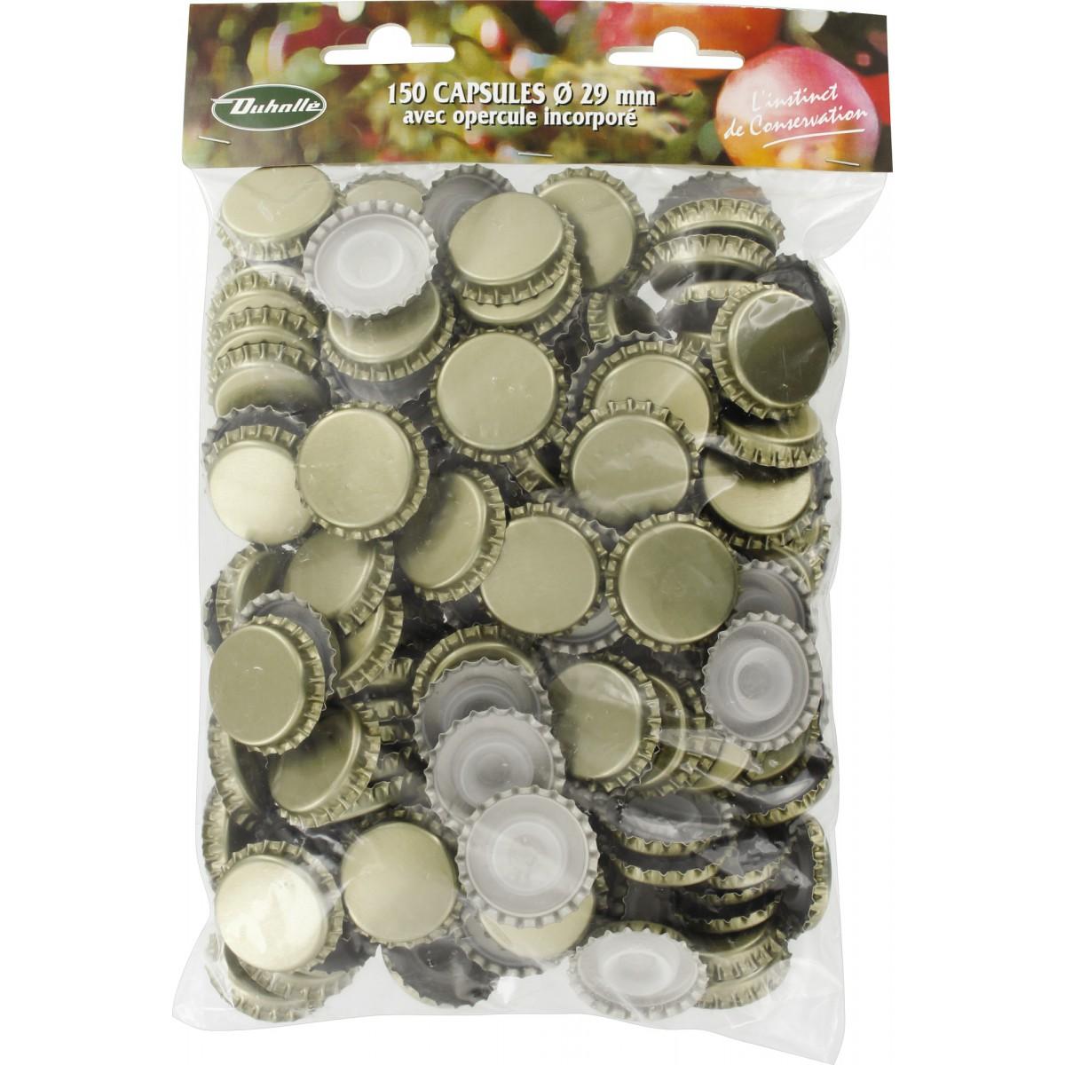 capsule bouteille champenoise duhalle or avec opercule diametre 29 mm vendu par 150
