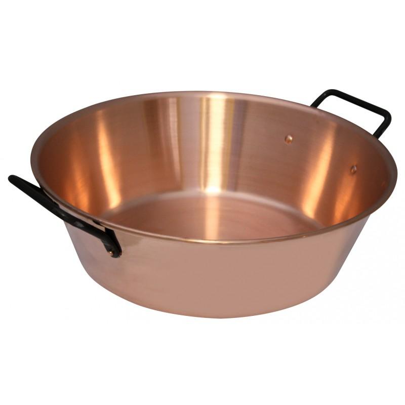bassine a confiture en cuivre massif baumalu diametre 38 cm
