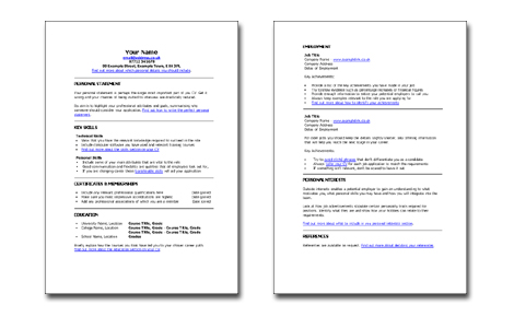 Skill Based Resume Template. Networking Assistant. Skills On