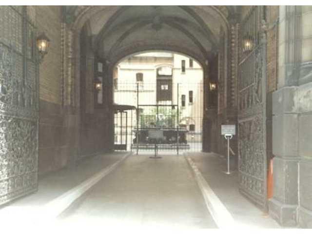 The Entrance To Dakota Apartment Building At 1 West 72nd Street In Manhattan Is Where