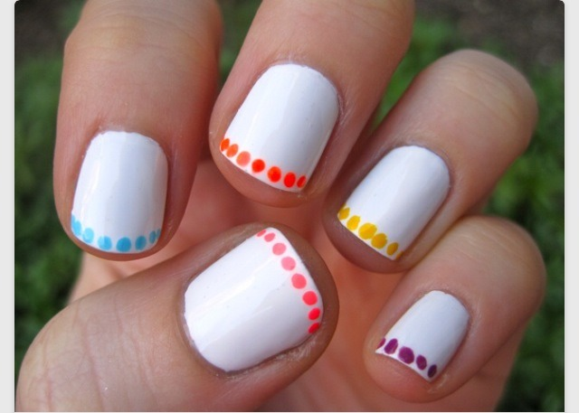 Paint Your Nails White 2 With The End Of A Bobby Pin Plete