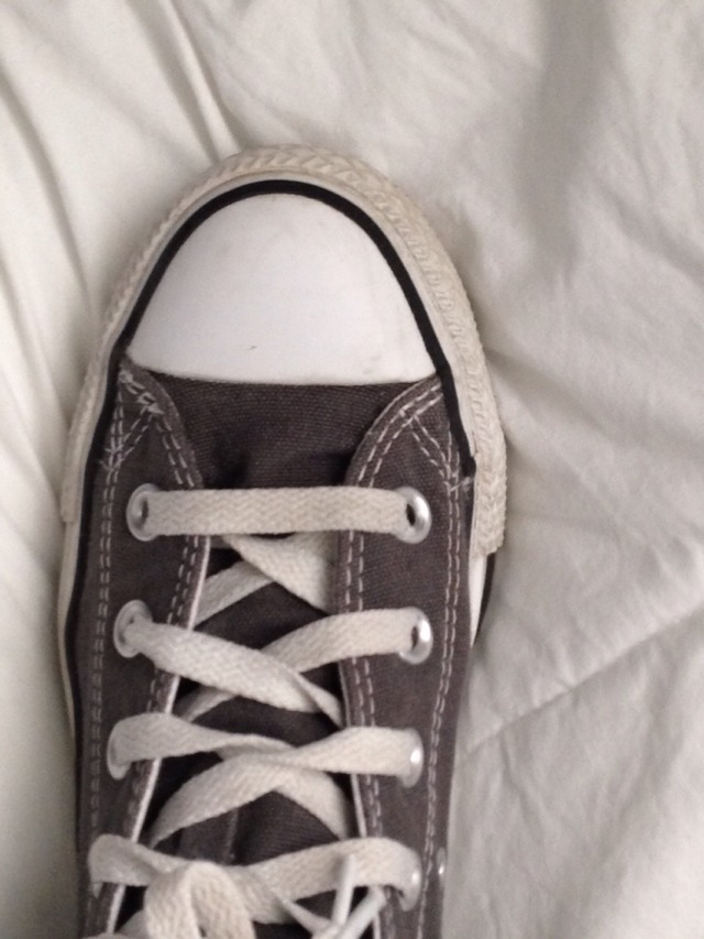 Converse Looking New With Nail Polish Remover