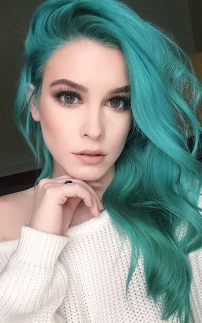 Best 25 Green Hair Color Ideas By Georgette Musely