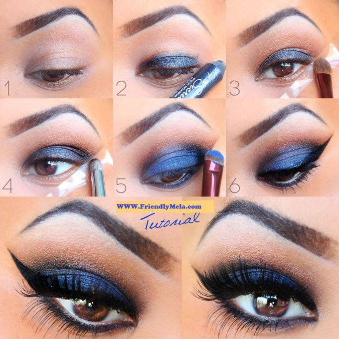 blue makeup tutorial by georgette 💕 - musely