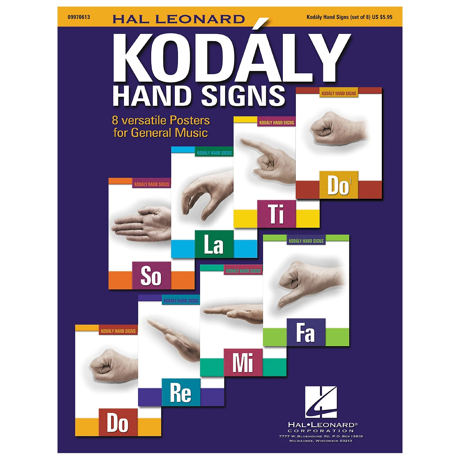Hal Leonard Curwen Kodaly Hand Signs Poster Set