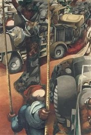 Artwork by Edward Burra, Ropes and Lorries
