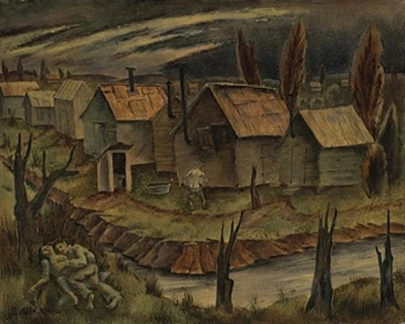 George Biddle, Hooverville By Night