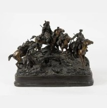 Artwork by Evgeny Alexandrovitch   Lanceray, Crossing the Balkans, Made of Bronze
