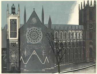 Bawden Edward Westminster Abbey 1966 Mutualart
