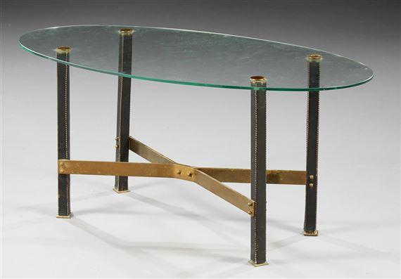 table basse a plateau ovale