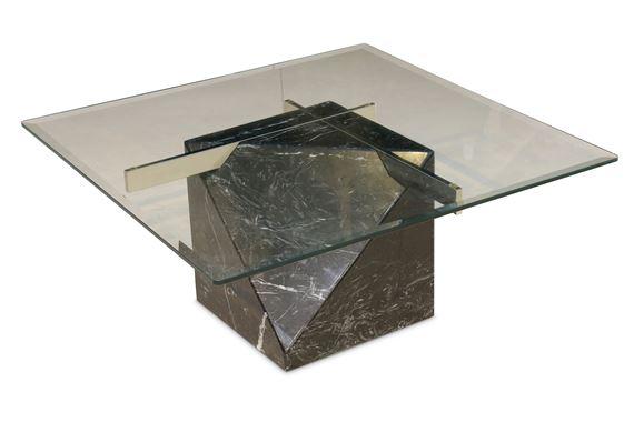 artedi a black marble coffee table