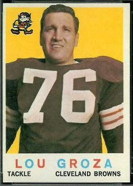Mr. Entsinger's favorite player was Lou Groza, who wore #76 for the old Cleveland Browns.