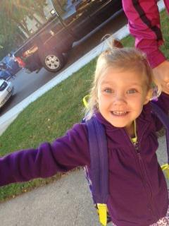 Our Daughter Jenna Had Her First Ever Day Of School