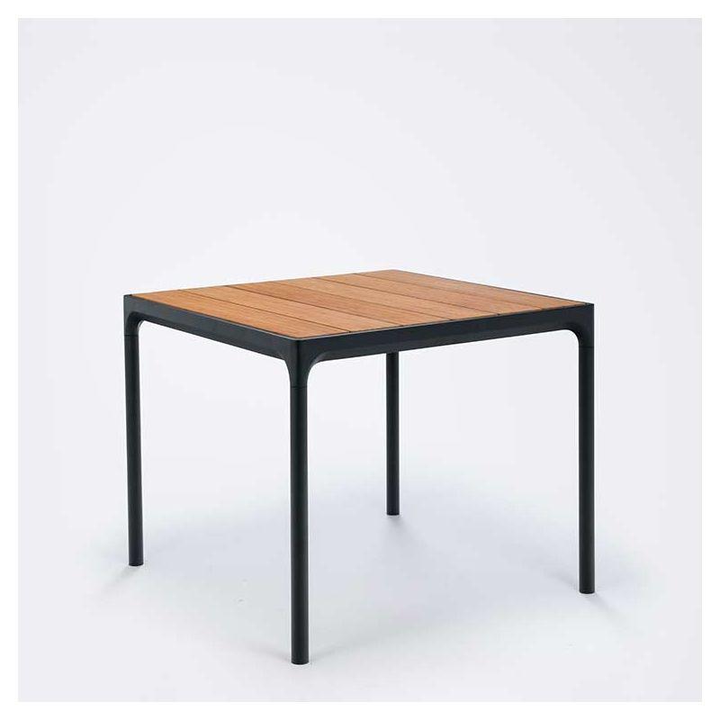 table carree bambou alu four houe