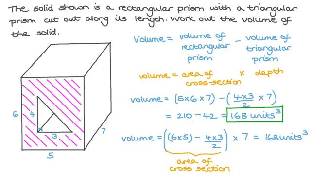 Finding the Volume of a Composite Prism