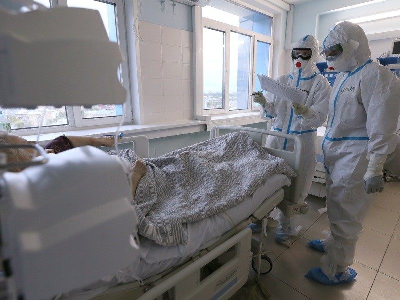 Hospital for COVID-19 patients at Moscow's Vishnevsky National Medical Research Centre of Surgery.
