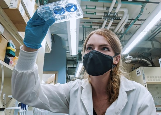 Kelsey Huntington in the lab