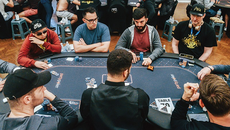 Poker players around a table in Rio de Janeiro, Brazil