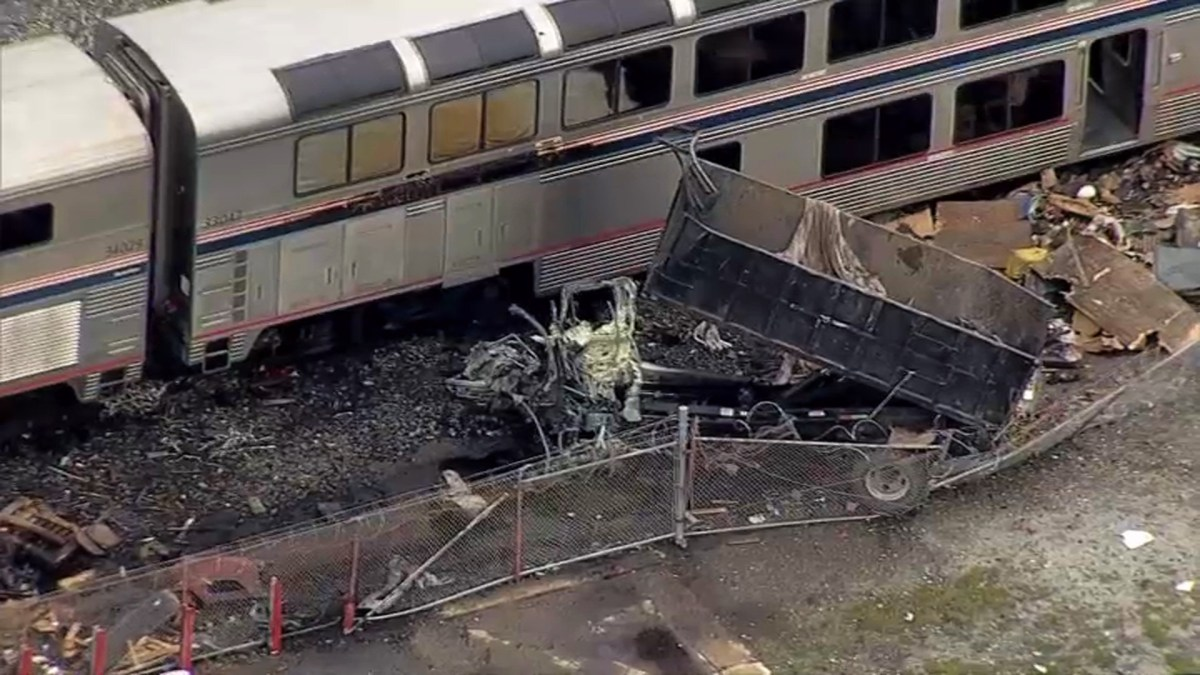 Shocking video of Truck hit at full speed by Train in Oakland, CA,  3/19/21