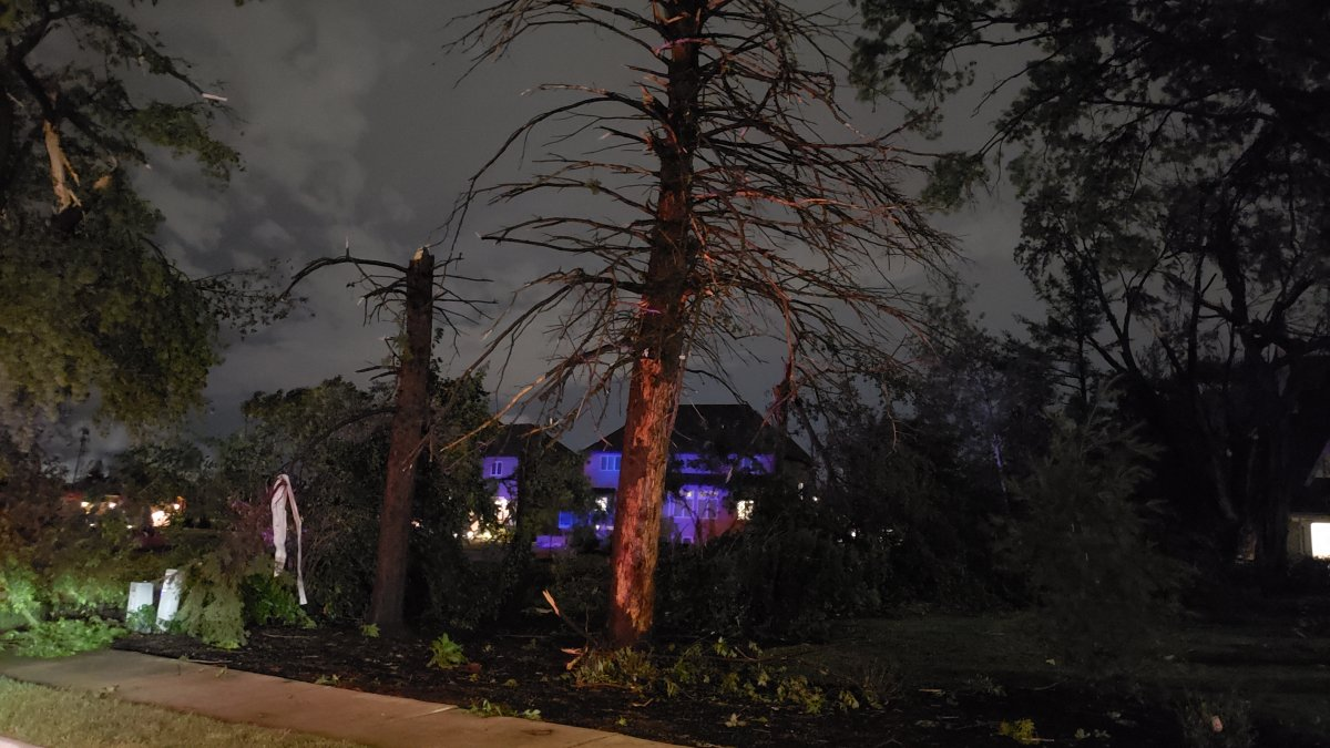 Several Injured, at Least a Dozen Homes Damaged in Likely Tornado in Naperville