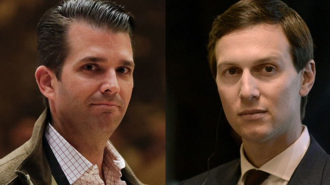 Image result for photos of paul manafort jared kushner donald trump jr