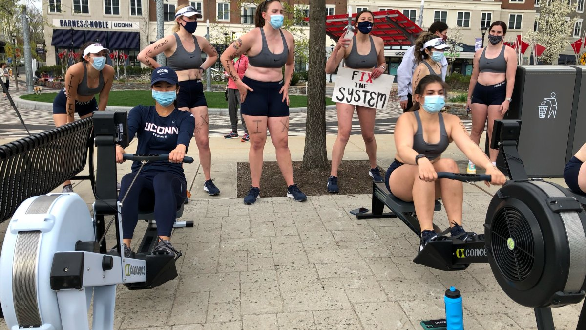 UConn Women's Rowers Protest School's Decision to Cut Program