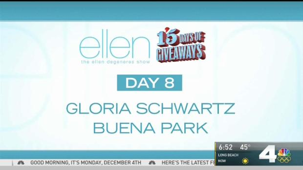Ellen christmas giveaway day 8 of menstrual cycle