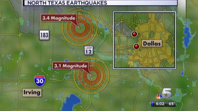 Thousands felt ground shake for 20 seconds southeast of DFW International Airport. Another earthquake at Loop 12 near I-30.