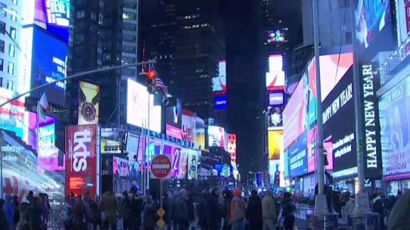 Times Square Preps for New Year s Eve Celebration   NBC New York Times Square Preps for New Year s Eve Celebration