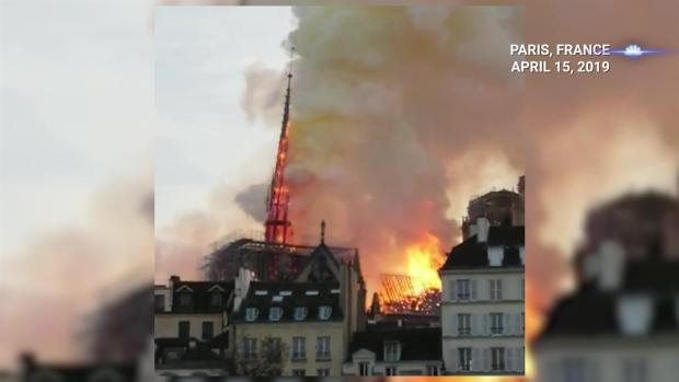 [NY] Notre Dame Cathedral Spire Collapses