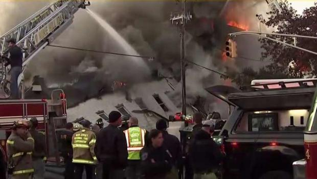 Massive Fire Rips Through NJ Block