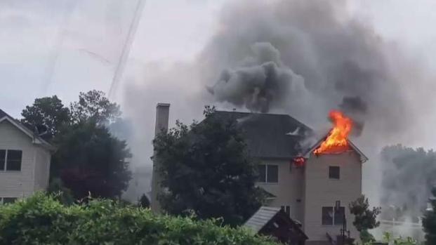 Lightning Strike Causes NJ House Fire