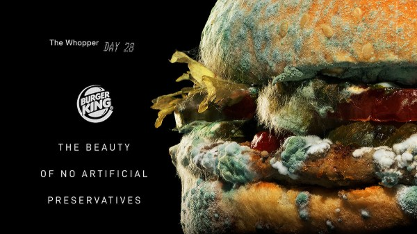 Burger King Launches Moldy Whopper Ad to Highlight