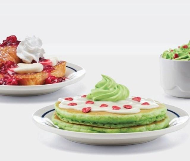 Natl Wildest Food Crazes Grinchs Green Pancakes Thanksgiving Dinner In A Can Ihop Restaurants