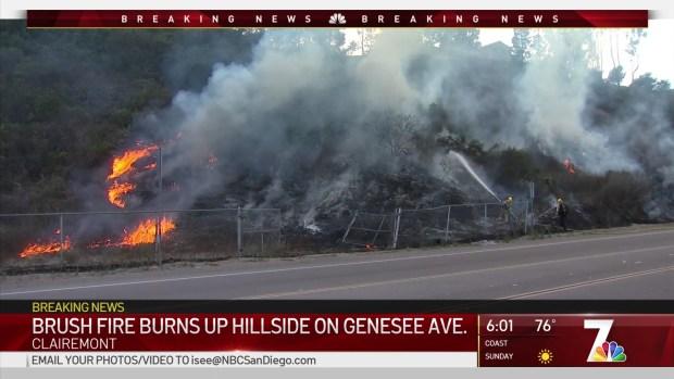 (DGO) Fuego de pincel encendido por el Líder de Golpe y Corre en Clairemont