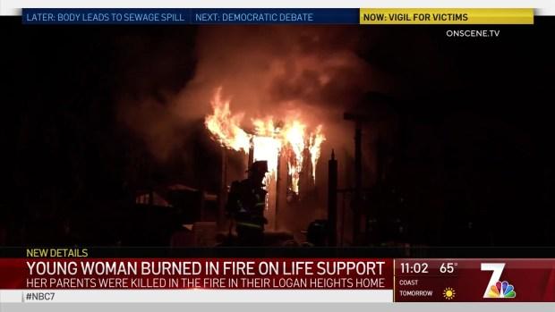 (DGO) Chica quemada en el incendio de Logan Heights Life Support Home: familia