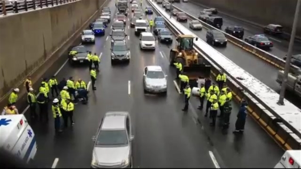 VIDEO: Protesters Shut Down 2 Parts of I-93