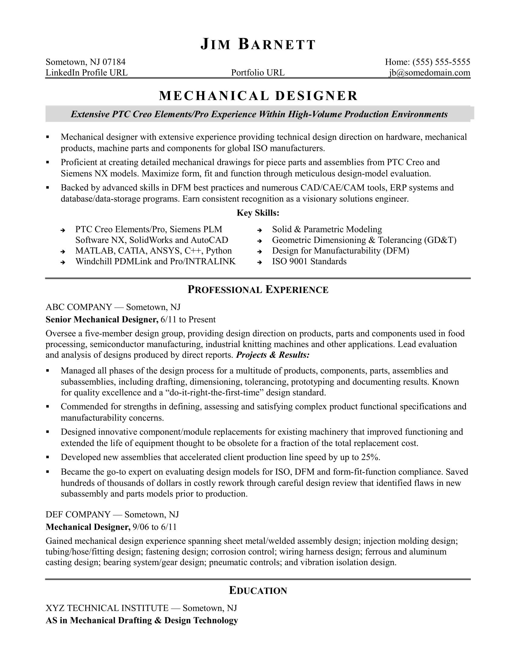 Cover Letter Design Engineer Mechanical] mechanical design ...
