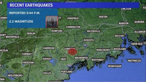 2.2 magnitude earthquake reported around Lewiston/Auburn area