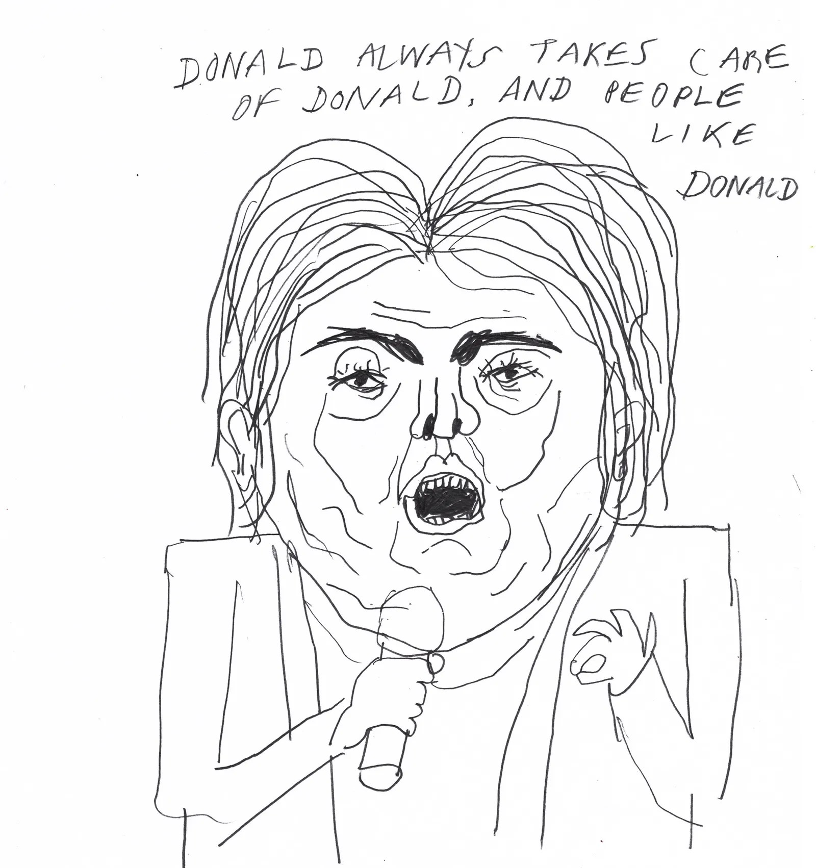 The Second Presidential Debate Live Drawing By Edward