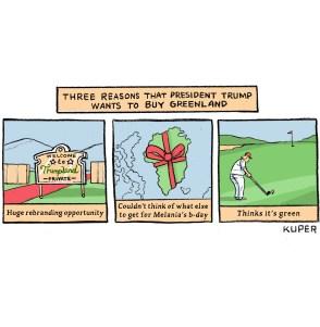 Afbeeldingsresultaat voor trump greenland cartoon