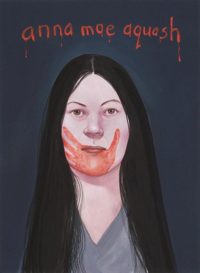 A painting of Anna Mae Aquash.