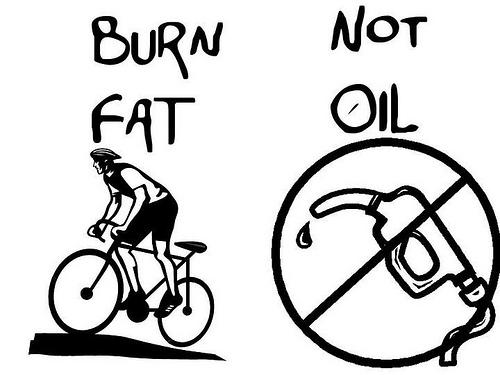 bränn kalorier inte bensin
